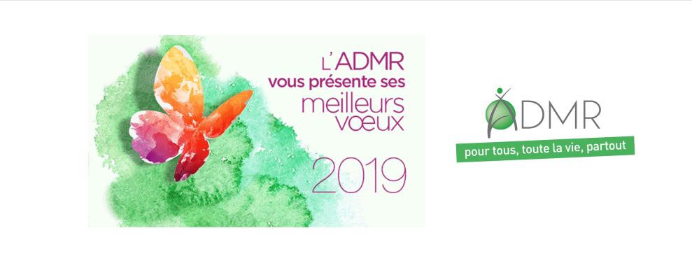 Toute l'équipe de L'ADMR 77 vous souhaite une heureuse année 2019